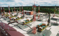 Gas turbine power plant rated for 24 mW at Central Gathering Station of the Prirazlomnoye field