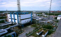 Gas lift compressor station at the Fedorovskoye field